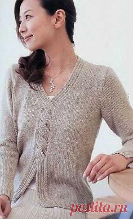 Пуловер оригинального фасона спицами. | вязание | Постила