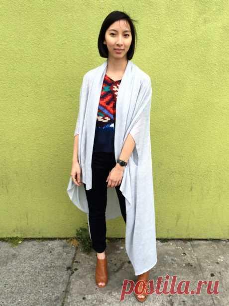 Накидка (выкройка, Diy) Модная одежда и дизайн интерьера своими руками
