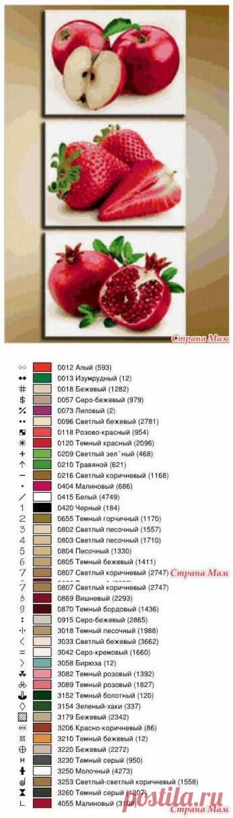 *Фрукты, ягоды для кухни - Вышивка и все о ней - Страна Мам