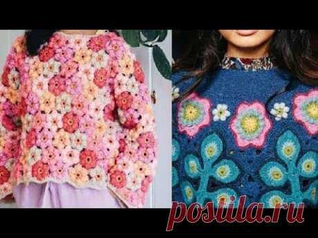 Женские модели крючком со схемами - Women's crochet models with diagrams