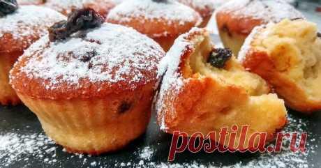 Творожные кексики к чаю за 5 минут + 2 рецепт сюрприз)   Вкусно и полезно   Яндекс Дзен