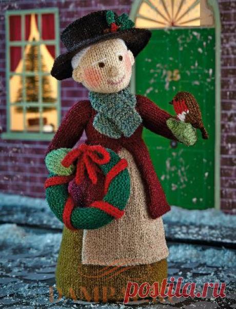 Вязаная кукла «Рождественская бабушка»
