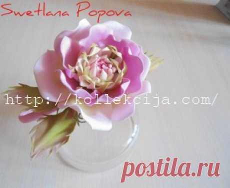 Как сделать цветок из фоамирана | Своими руками — интернет журнал