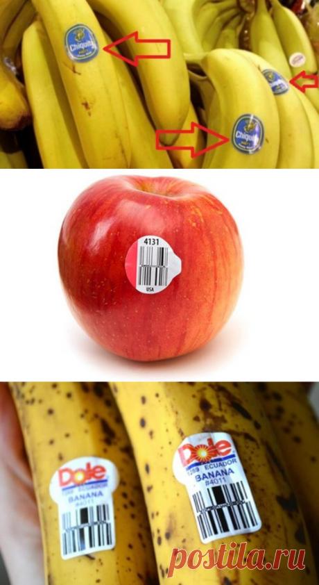 Будьте осторожны, когда покупаете бананы! Знаете ли вы, что означают ЭТИ наклейки? | В темпе жизни
