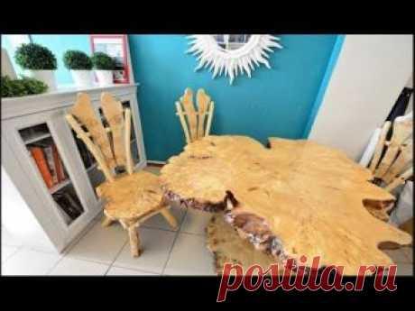 Крутая мебель из слэбов и спилов ручной работы.  Массивные плиты из вяза, дуба, тополя и других пород древесины используют для изготовления оригинальной мебели или в качестве самостоятельн...