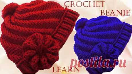Como tejer gorro Boina a Crochet o Ganchillo en punto remolino en relieve  En este vídeo 0619c688cec