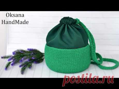 Сумка торба из шнура. Мастер класс. Torba crocheted bag.
