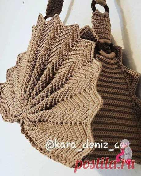 Вязание-крючок-РАЗНОЕ>Очень красивая необычная сумочка крючком