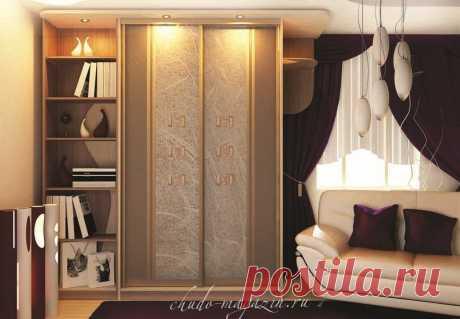 Шкаф купе под заказ с полками для книг: фото, дизайн