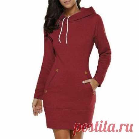Выкройка платья с капюшоном (9 размеров) Модная одежда и дизайн интерьера своими руками