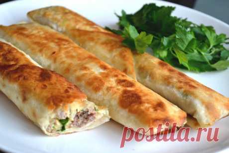 Фаршированный лаваш, запеченный в духовке — отличная идея! | Самые вкусные кулинарные рецепты