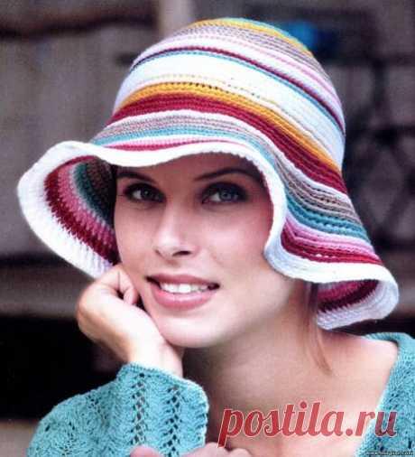Шляпа с полями крючком: как вязать, схемы и описание, разные модели - Ladiesvenue.ru