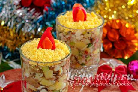 Салат Рождественские свечи, рецепт с фото пошагово   Простые рецепты с фото