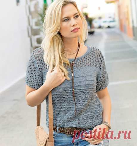 вязание кофты с коротким рукавом Natalia Shvecova простые схемы