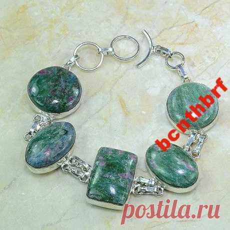 Браслет натуральный ЦОИЗИТ серебро 925 пр. (6287491864) - Aukro.ua – больше чем аукцион