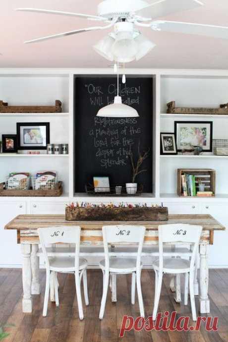 Грифельная доска как украшение интерьера — Мой дом