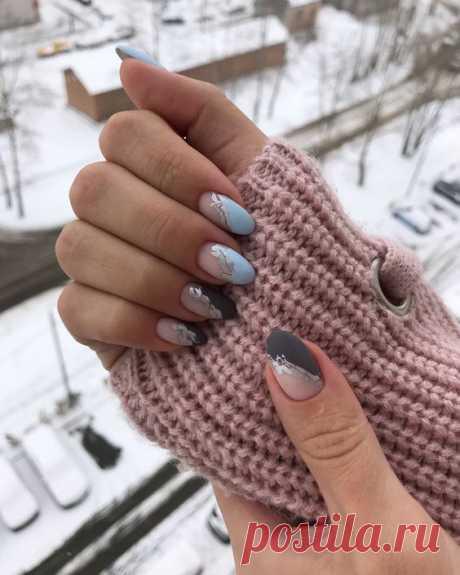 Зимний дизайн ногтей — Мой милый дом