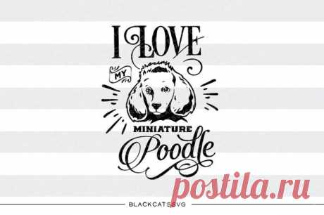 I love my poodle -  SVG file Cutting File Clipart in Svg, Eps, Dxf, Png for Cricut & Silhouette I love my poodle - SVG file This is not a vinyl, the file contains only digital files, and no material items will be shipped. This is a digital download of a word art vinyl decal cutting file, which can be imported to a number of paper crafting programs like Cricut Explore, Silhouette and some other cutting machines. I