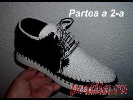 Pantofi crosetati de barbati - Partea II