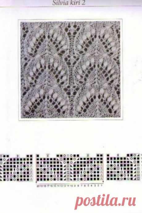 Узоры для вязания шарфов, шалей и палантинов. Часть третья