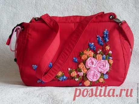 """Купить Сумка летняя """"Лето красное"""" - ярко-красный, цветочный, сумка ручной работы"""