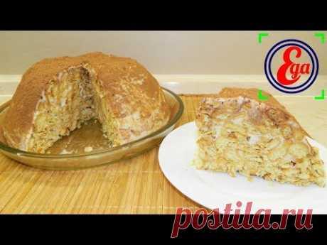 Торт из крекера со сметанным кремом