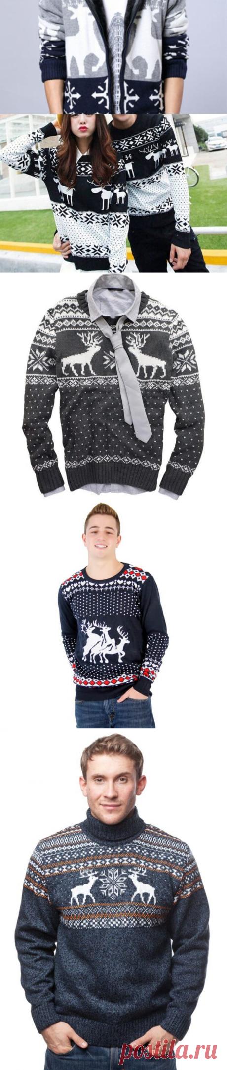 Теплые вязаные свитера с оленями мужские: 70 фото | В ТЕМПЕ ЖИЗНИ
