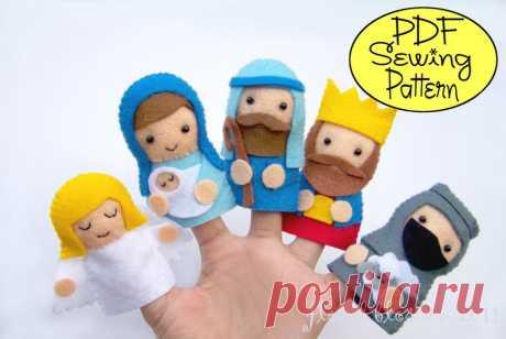 Пальчиковые куклы из фетра