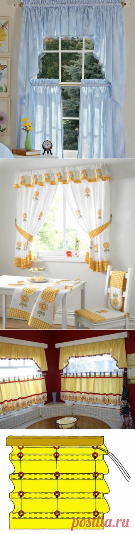 Выкройки штор для кухни