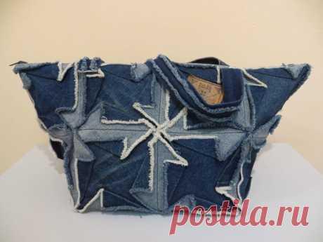 """Сумка из джинсы в технике """"оригами"""" - Фестиваль лоскутного шитья в Суздале"""