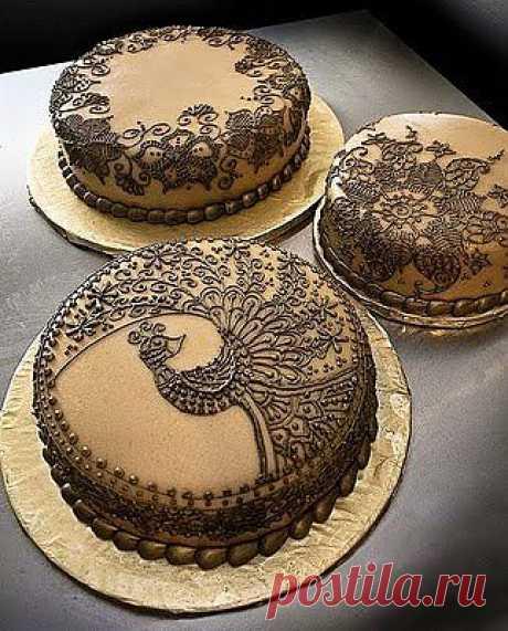 Украшение тортов это ещё и художественное творчество..