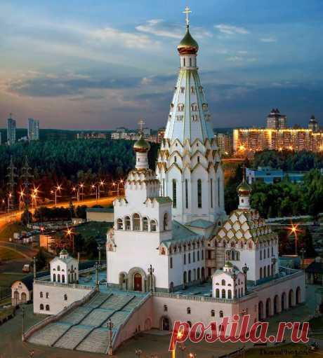 Всехсвятская церковь Минск фото история строительства расписание богослужений расположение на карте Минска адрес храма