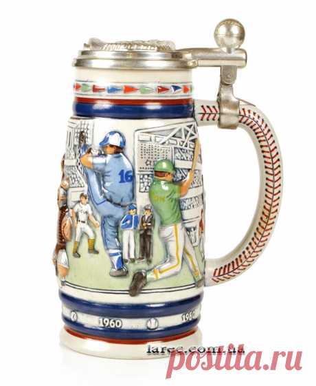 Подарок мужчине керамическая кружка для пива с крышкой бейсбол Avon в Украине | Интернет-магазин подарков Ларец бесплатная доставка по Киеву, шоу рум для выбора лично. Будем рады видеть вас