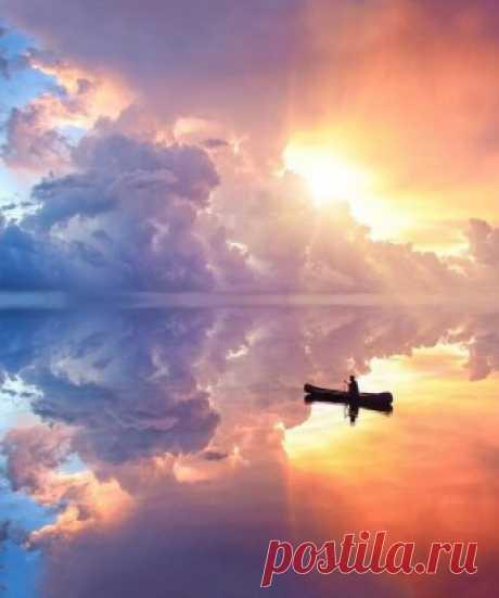 Радужный закат на Бали