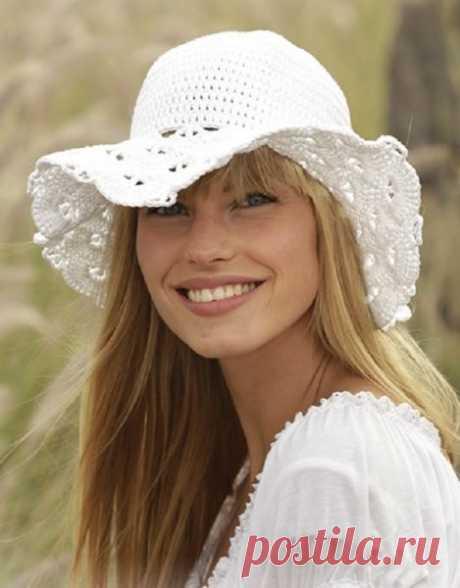 Ажурная шляпка для летних прогулок