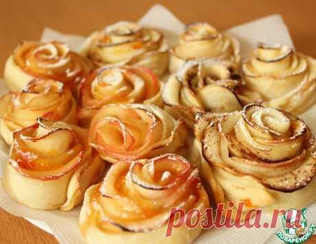 Яблочные розы – кулинарный рецепт