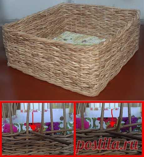 Плетеная коробочка + МК плетения ёлочкой.