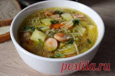 Как приготовить быстрый суп с сосисками. - рецепт, ингредиенты и фотографии