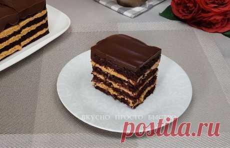 Вкуснее чем Твикс и Сникерс. Домашний шоколадный торт Твикерс | Вкусно Просто Быстро | Яндекс Дзен