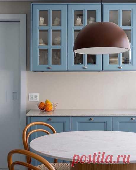 Необычные серо-голубые кухни: идеи дизайна интерьера от IVD.ru