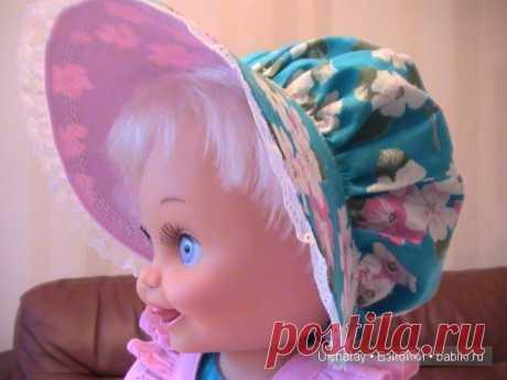 Мастер-класс. Шляпка-капор для куклы Baby Face Galoob / Шапочки для кукол. Выкройки и схемы вязания / Бэйбики. Куклы фото. Одежда для кукол