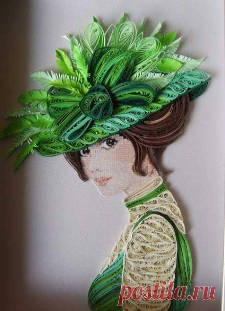«Девушка в зеленой шляпе» — карточка пользователя марина с. в Яндекс.Коллекциях