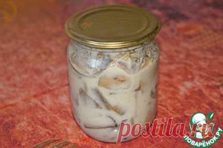 Грибы, маринованные со сметаной – кулинарный рецепт