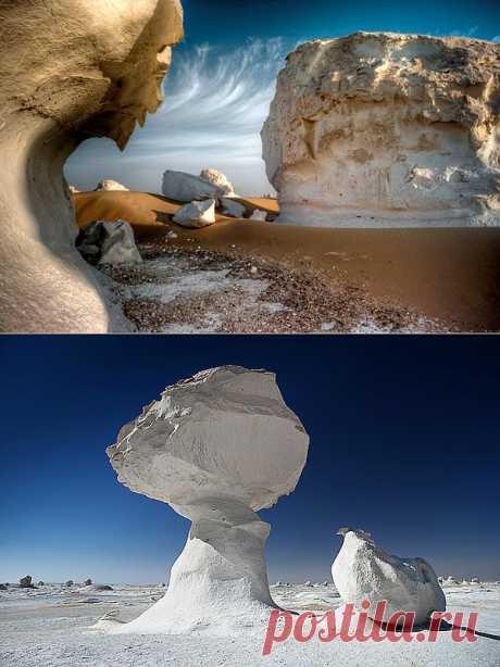 Белая пустыня, Египет (White Desert) фото и статья