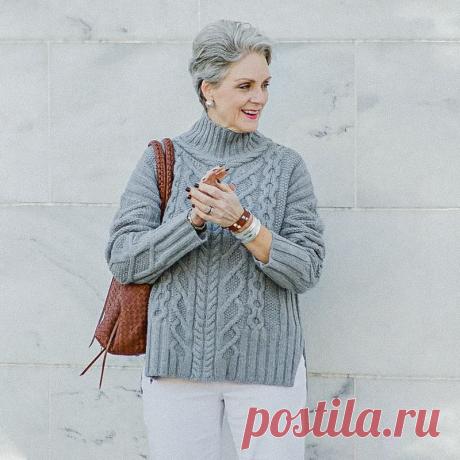 Стильные элегантные вязаные образы для дам 50+ | Вязунчик — вяжем вместе | Яндекс Дзен