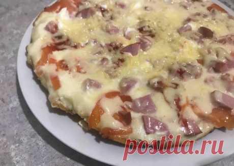 (6) Пицца на сковороде «Минутка» - пошаговый рецепт с фото. Автор рецепта Валерия . - Cookpad