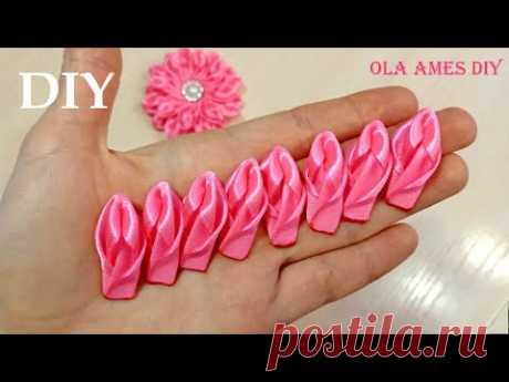 В Них Можно Влюбиться 😍 КРАСИВЫЕ ЦВЕТЫ из ЛЕНТ - ЛЕГКО😍 DIY Ribbon Flowers/ Flores de Fita/ Ola ameS