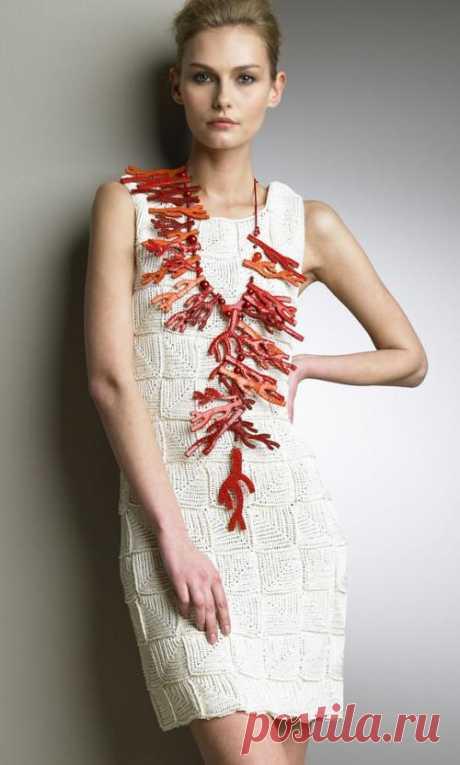 Платье из квадратных мотивов от Oscar de la Renta — Мастер-классы