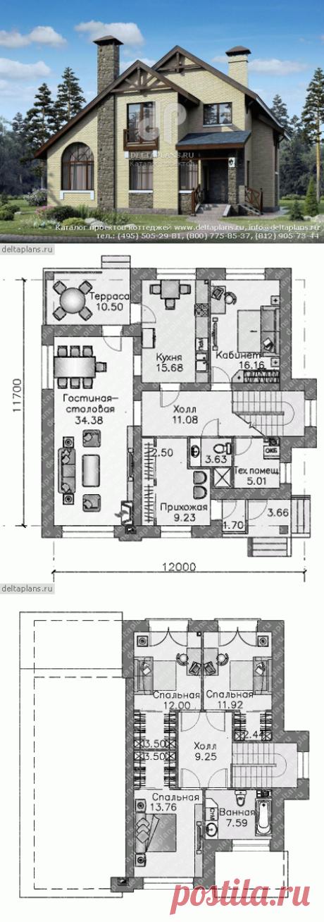 Проект современного дома из газобетона № N-170-1P