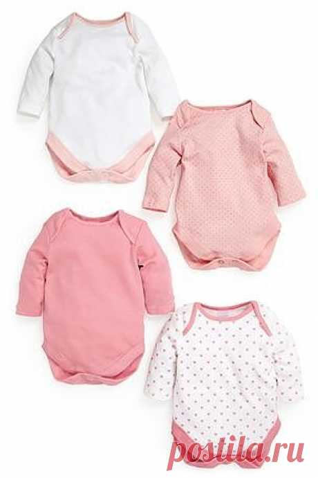 Buy Pink Long Sleeve Bodysuits Four Pack (0mths-3yrs) from the Next UK online shop